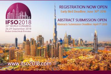 26-29 сентября 2018 г. 23-й международный IFSO конгресс (Дубай)